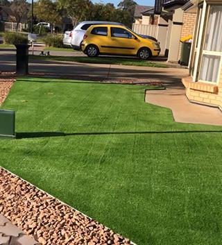 After artificial grass installation